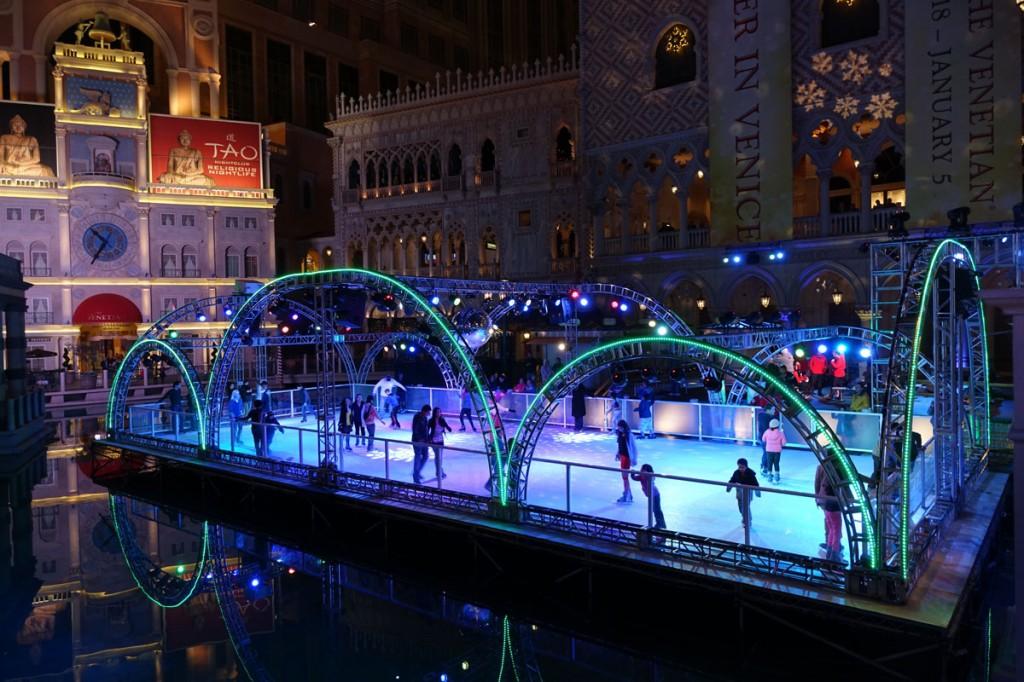 Ice Skating at The Venetian